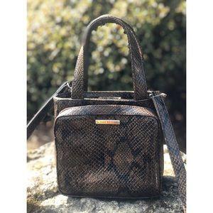 Nine West snakeskin mini bag purse